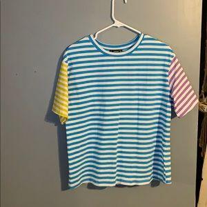 color blocking t-shirt